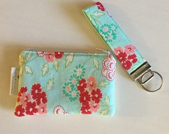 Zip pouch, key fob, set