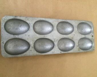 Vintage Aluminum Egg Candy Mold