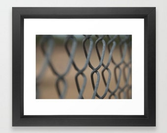 Wall Decor Photograph Chain Link Fence