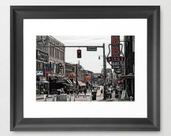 Wall Decor Photograph Beale Street Memphis Tennessee Street Scene