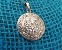 Hecho En Mexico Aztec Warrior Sterling Pendant & Chain PNM