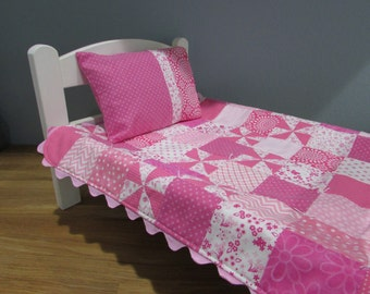 Doll Quilt Set, Pretty Pink