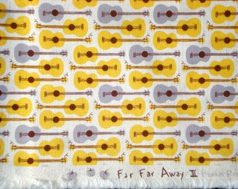 Heather Ross Far Far Away III Guitars yellow gray FQ or more