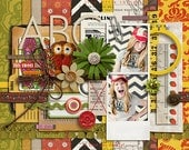 Retro Mod - Washi Tapes Strips No 2 - Digital Scrapbooking Kit for Teen, Fall, Autumn, Vintage INSTANT DOWNLOAD