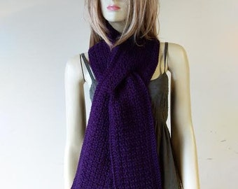 Long Keyhole Scarf-Royal Purple-Made To Order-Any Color