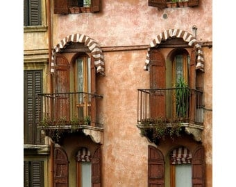 Fine Art Color Photography of Brown Home in Verona Italy