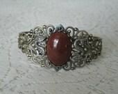 Goldstone Dragon Cuff Bracelet, renaissance jewelry medieval jewelry fantasy jewelry cosplay gothic edwardian victorian tudor bracelet