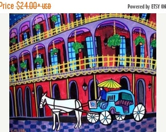 55% Off- New Orleans Art  Mardi Gras Art Print Poster by Heather Galler