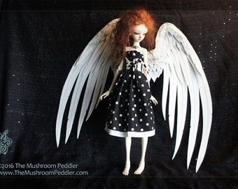 "Angel Doll Wings 20""- Handmade/painted - White #2"