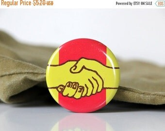 50% OFF Cool USSR pin with a designs of handshake, made in Soviet Union 70s