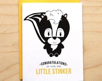 Little Stinker - Baby Card