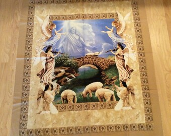 A Religious Amazing Grace Prayer Quilting Fabric Panel Free US Shipping
