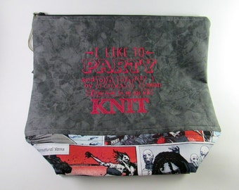 Party...Knit - The Walking Dead Zippered Project Bag
