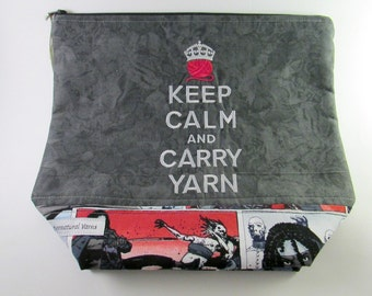 Keep Calm & Carry Yarn - The Walking Dead Zippered Project Bag