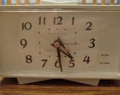 Vintage 1960's General Electric Alarm Clock Retro Atomic Electric Clock Mid-Century Modern Decor Photo Prop