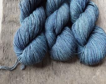 Blue Jean Blues - Hand Dyed Silk Yak DK Yarn
