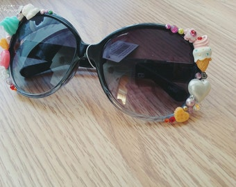 Ice Cream Scream crystal Kawaii Harajuku Sunglasses Sunnies, Lolita, japan, candy