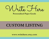 Custom Order for Zoe Healy - PLEASE do not order if this is not you!