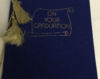 GRADUATION Booklet out of print greeting card book unused 1964 poems autographs paper ephemera 6x8 size 30 pages very good condition unused