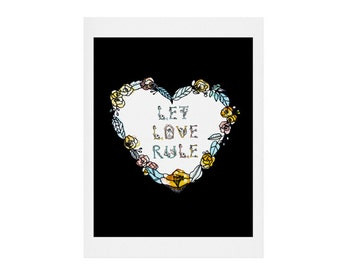 Let Love Rule Decorative Print. Home Decor. Love print