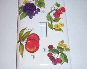 Fresh Fruit - single light switch cover