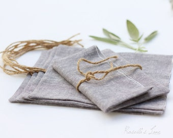 set of 5 grey yarn dyed linen envelopes for 4x6 photo prints
