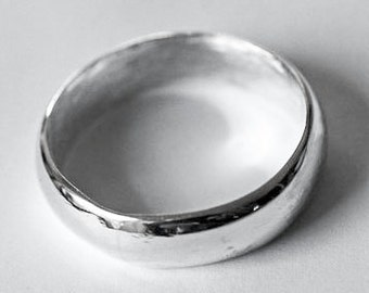 Sterling Silver Ring Band, Wedding or Fun Wide Dome Any Size Handcrafted