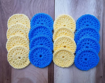Made-to-Order 2-Color Cotton Face Scrubbies