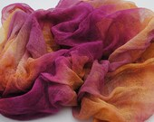 Hand Dyed Cotton Scrim, Gauze,  Art Cloth, Fabric for nuno felting, art and mixed media projects.CS 3