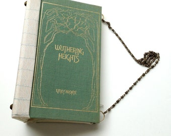 Book Purse Wuthering Heights Emily Bronte recycled book