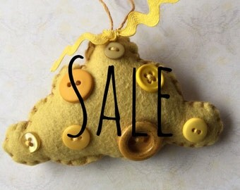 Mustard Cloud Ornament SALE