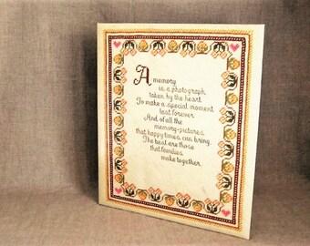 Vintage  Hallmark Scrapbook/Photo Album / Sampler-Look Hallmark Album / Vintage Hallmark Scrapbook / Play/Movie Prop / 70's Scrapbook