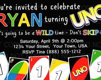 Printable UNO Party Invitation