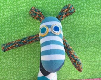 OOAK handmade recycled stuffed animal bunny rabbit archie