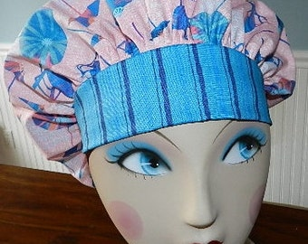 Summer Fun  Banded Bouffant Surgical Cap / Bakers Cap
