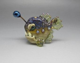 Angry Angler - Lampwork Focal Bead