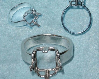 12x10 EC Crown ring setting by Varm SIZE 6.5 Sterling Silver ring casting