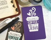 coffee & Jesus journal (mini/ruled/purple/white)