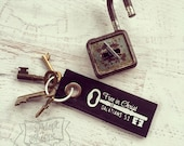 free in Christ fair trade vintage key fob
