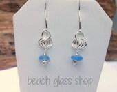 Sea Glass Earrings - Sterling Beach Earrings - Lake Erie Jewelry - Mermaid Tears - FREE Shipping inside US