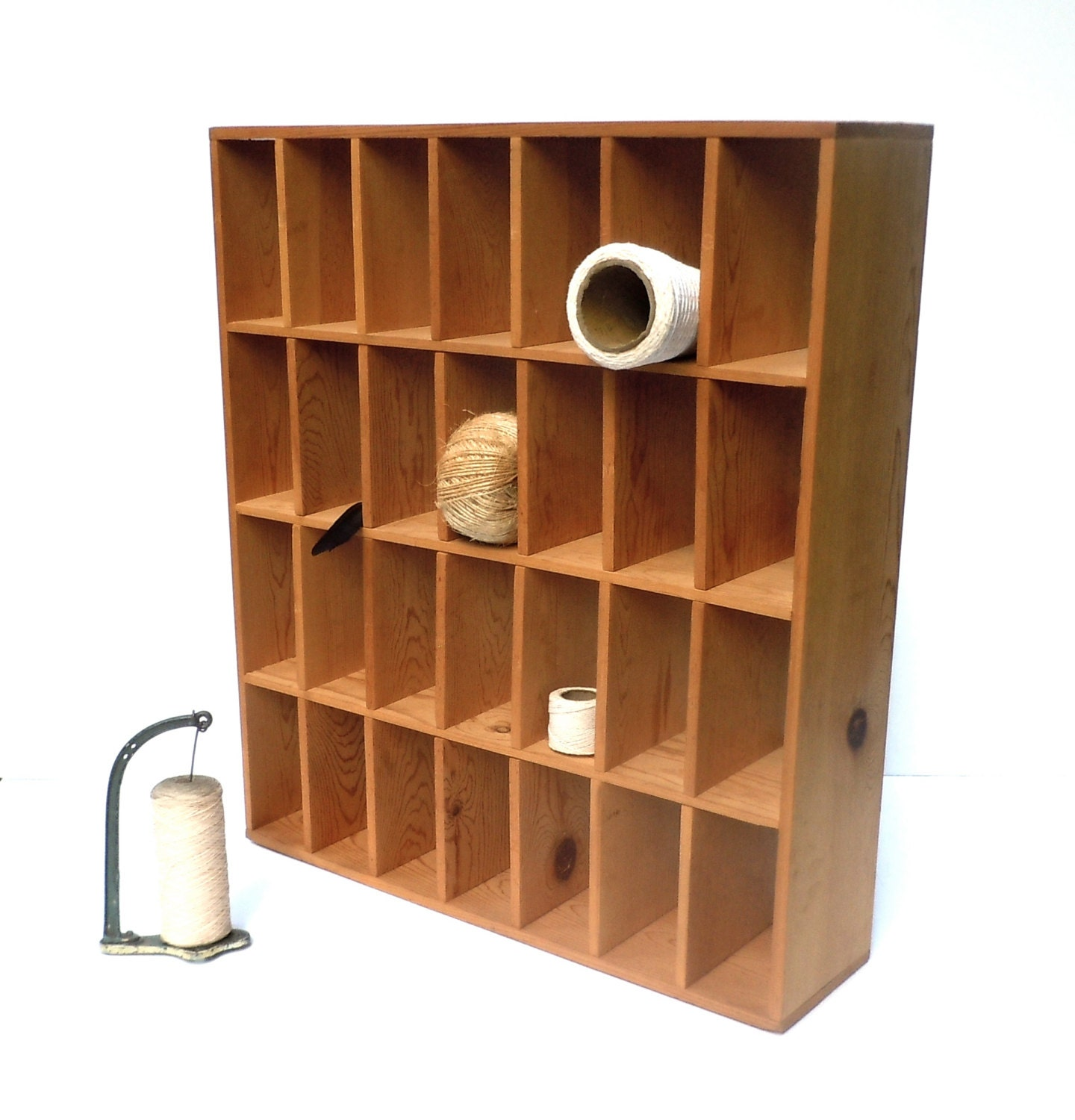 Vintage Cubby Cabinet / Mail Sorter / Collection Display