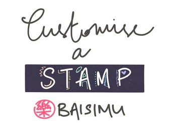 Customised calligraphy name rubber stamp