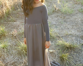 Little Mama Splendor Gown| CHARCOAL SIZE 4/6