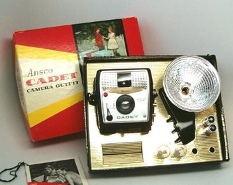 Vintage Camera, ANSCO CADET OUTFIT in Excellent Condition