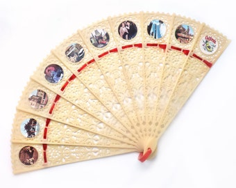 Plastic Folding Souvenir Fan, Los Angeles California