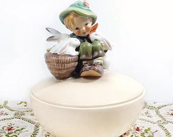 Hummel Candy Dish, Little Playmates, TMK-3
