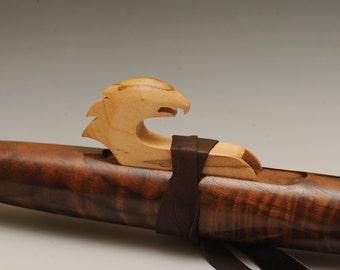 Native American Style Flute Oregon Black Walnut and Eagle