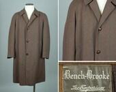 mens vintage 1930s coat • EMPORIUM fine wool overcoat with subtle stripe