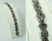 deco style JUDITH JACK marcasite bracelet • sterling silver
