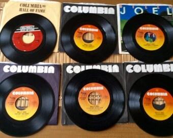 6 Vintage Billy Joel 45 Records in Original Sleeves 1978-1983